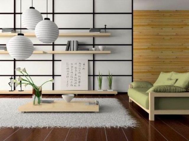 Phòng khách Nhật đẹp tinh tế, gần gũi với tự nhiên.