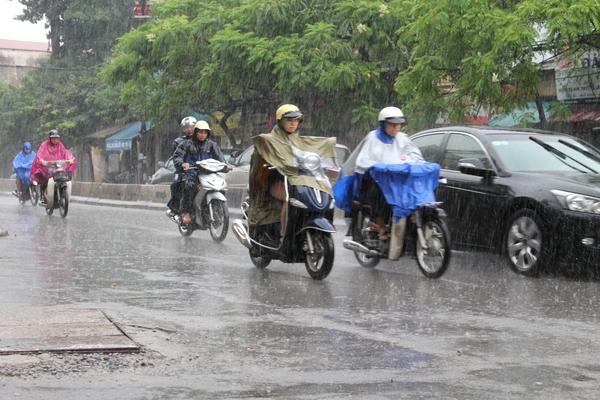 Thời tiết miền Bắc chuyển mát, có mưa vừa, mưa to trong hôm nay. Hình minh họa