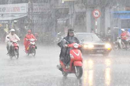 Theo dự báo thì ngày hôm nay Hà Nội sẽ mưa to và dông. Hình minh họa