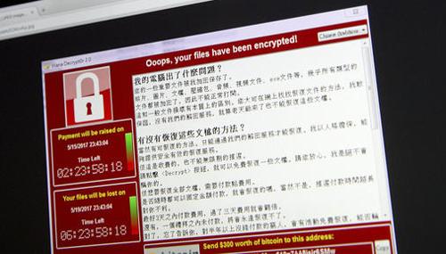 Một máy tính bị nhiễm mã độc ở Trung Quốc.