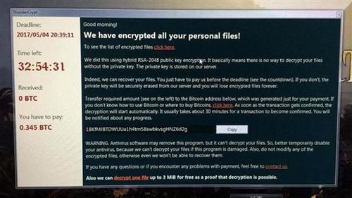 Một máy tính bị nhiễm ThunderCrypt.