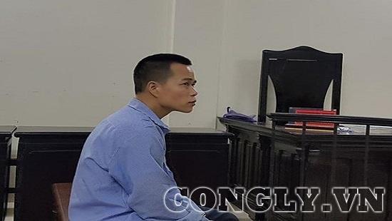 Bị cáo Phạm Ngọc Sơn tại phiên tòa sáng nay