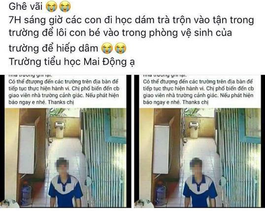 Hình ảnh đối tượng có hành vi xấu với học sinh được một tài khoản Facebook chia sẻ. (Ảnh chụp màn hình)