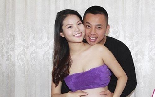 Chí Anh và bà xã Khánh Linh.