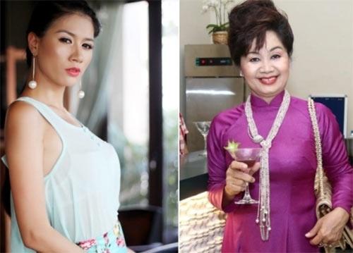 Trang Trần và nghệ sĩ Xuân Hương.