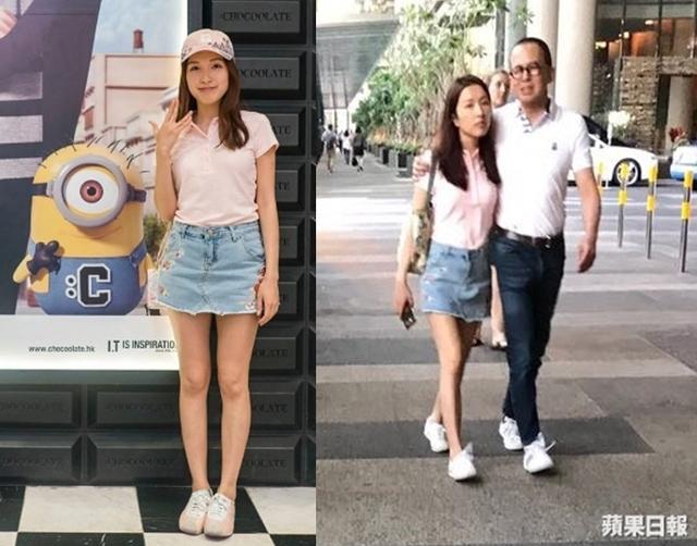 Bức ảnh được Gia Văn khoe trên trang cá nhân (trái) trong chuyến đi Singapore hồi đầu tháng, bộ váy cô mặc trùng với trang phục cô diện khi sánh vai Lý Trạch Giai, càng góp phần khẳng định hai người đi du lịch cùng nhau. Ảnh: News