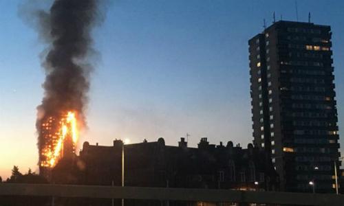Vụ cháy chung cư ở Anh gây rúng động dư luận. Ảnh: