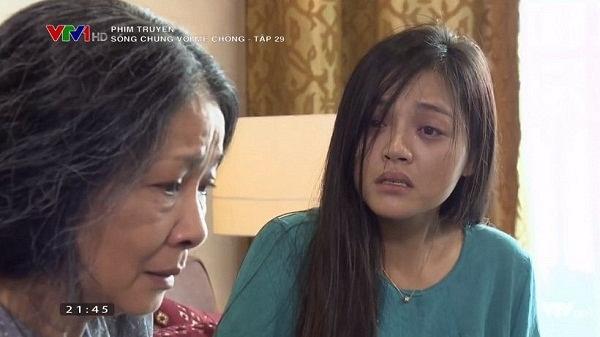 Sau vài ngày không có tin tức về bé Đậu Phộng, Trang thực sự phát điên. Có thể nói, diễn xuất của Thu Quỳnh trong những phân đoạn này thật khiến người xem nổi da gà. Cô như hóa thân hoàn toàn vào nhân vật, đem đến những phân đoạn xúc động cho người xem.