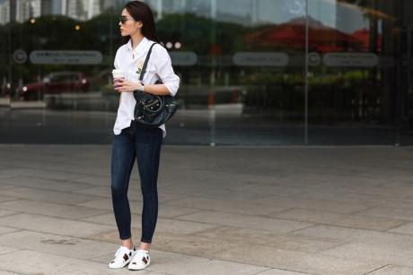 Người đẹp sử dụng mắt kính Fendi, giầy Gucci và túi xách nổi tiếng của Balenciaga