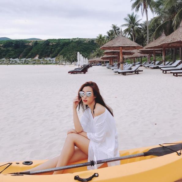 Hình ảnh quyến rũ được Mỹ Linh đăng tải trên Instagram.