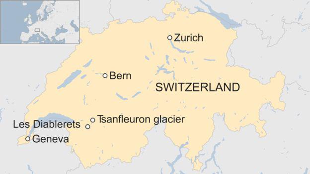 Khu vực tìm thấy 2 thi thể mất tích 75 năm. (Ảnh: bbc)
