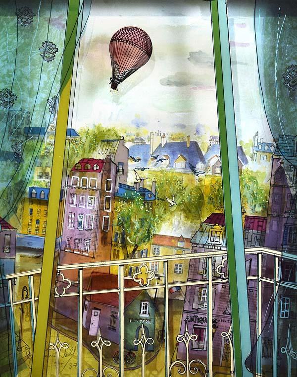 Vào năm 1991, trong quá trình nghiên cứu về nghệ thuật thị giác, họa sỹ Jean-Pierre Weill đã bị hấp dẫn bởi nghệ thuật vẽ tranh không gian 3 chiều . Kể từ đó, ông đã bắt đầu sáng tác tranh kính theo hình thức này.