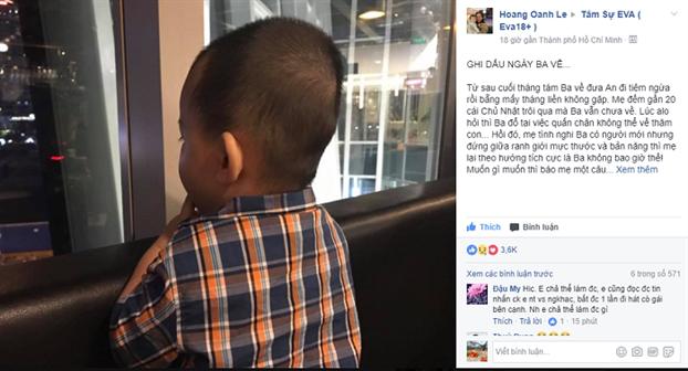 Chưa đến một ngày, tâm sự của chị Hoàng Oanh đã nhận được hơn 3.600 lượt like và cảm xúc. (Ảnh chụp màn hình)