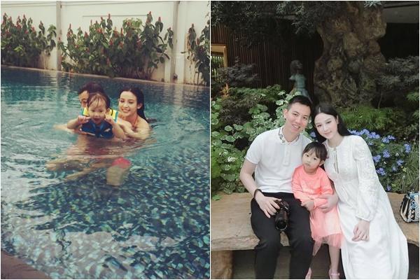 Chồng của cựu hotgirl 8X rất chiều chuộng vợ, thường xuyên đưa mẹ con Huyền Baby đi nghỉ dưỡng tại các resort cao cấp trong và ngoài nước.