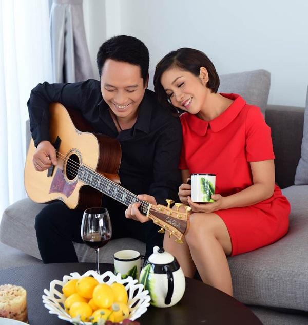 Vợ chồng nhạc sỹ - ca sỹ Anh Quân - Mỹ Linh.