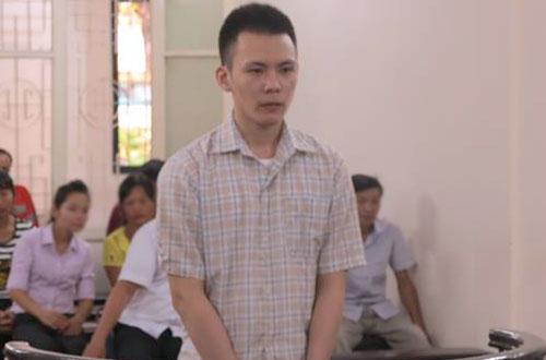 Bị cáo Thành tại phiên tòa sơ thẩm.