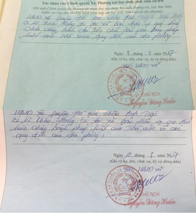 Nhiều tân sinh viên gặp rắc rối vì bút phê của lãnh đạo xã vào sơ yếu lý lịch.