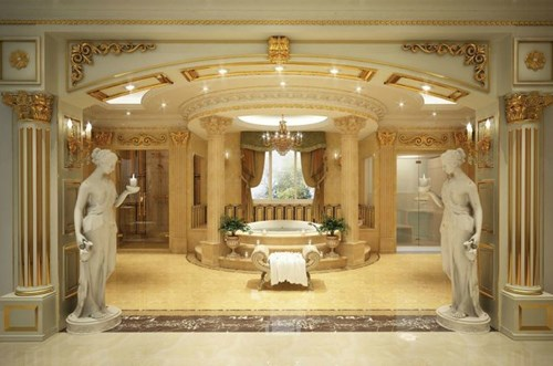 Đại gia Hùng Túy đã gây ấn tượng với tòa lâu đài xa xỉ được xây dựng và trang trí với phong cách Ý.