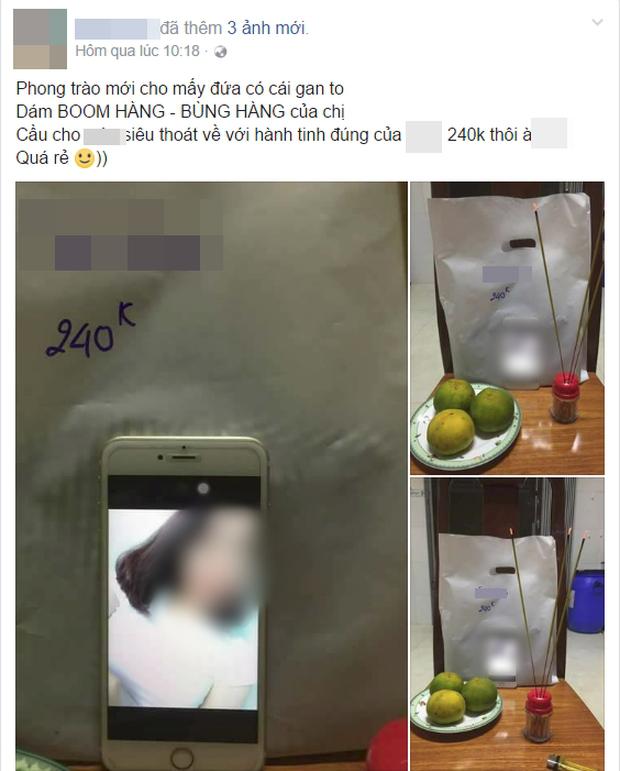 Bài đăng của chủ shop trên mạng xã hội. Ảnh chụp màn hình.