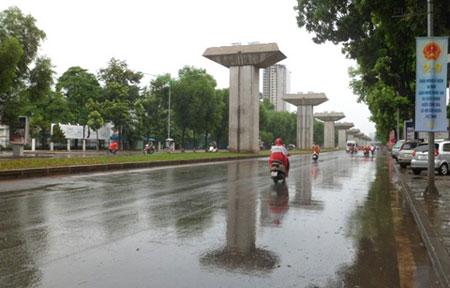 Miền Bắc trong đó thủ đô Hà Nội sẽ mưa mát từ nay đến hết tháng. Hình minh họa