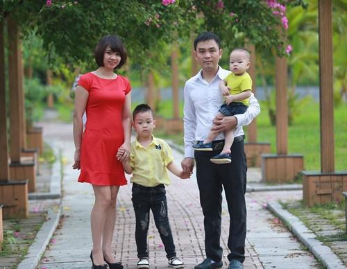 Tổ ấm hạnh phúc của chị Thủy và anh Lưu.
