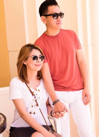 Thanh Thảo và bạn trai tay trong tay mọi lúc mọi nơi.