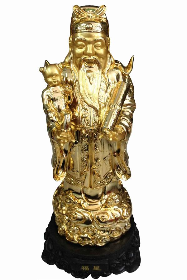 Ông Phúc làm đến chức Thừa tướng đời nhà Đường. Ông là một vị quan thanh liêm và có một gia đình hạnh phúc. Đến năm 83 tuổi là đã có ngũ đại đồng đường (5 thế hệ ở trong một gia đình). Vì vậy, trên tay ông Phúc thường bế một đứa bé trai. Ông Phúc tượng trưng cho sự may mắn, an lành.