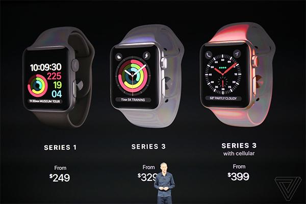 Watch Series 3 có thêm sim điện tử.