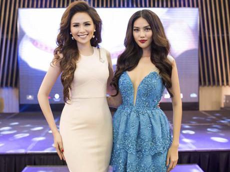 Hoa hậu Diễm Hương và hoa khôi Lan Khuê tại sự kiện