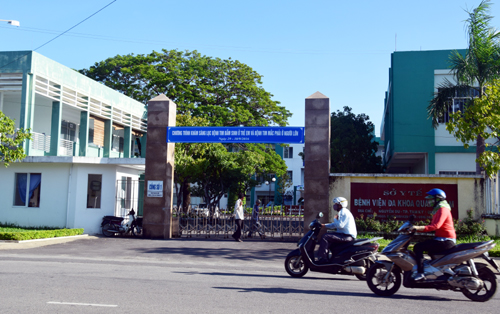 Bệnh viện Đa khoa Quảng Nam nơi bác sĩ Khoa làm việc. Ảnh: Đắc Thành.