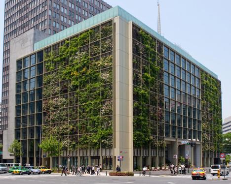Tòa nhà văn phòng xanh nổi tiếng của Tokyo.