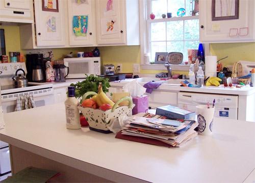 Thói quen mua sắm đồ dùng thỏa thích của nhiều chị em khiến bếp trở nên lộn xộn. Ảnh minh họa: Clutterbug.