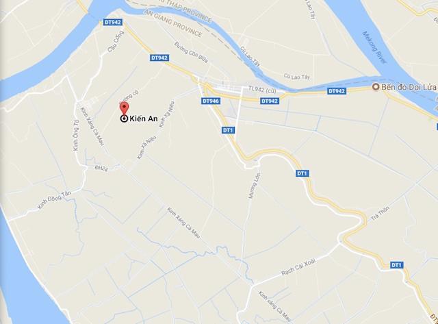 Xã Kiến An (huyện Chợ Mới, tỉnh An Giang). Ảnh Google Maps.