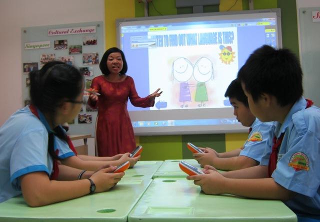 Lớp học tiếng Anh thông minh tại Trường tiểu học Lê Ngọc Hân, Q.1, TPHCM