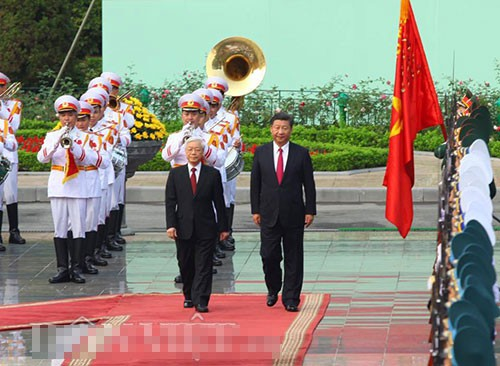 Lễ đón chính thức Chủ tịch Trung Quốc Tập Cận Bình