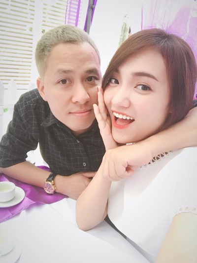 Nhật Thủy và chồng sắp cưới - anh Ngô Quỳnh.