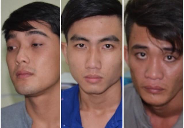 Khá, Trường và Nguyễn Nhật Trường tai cơ quan điều tra. (từ trái qua). Ảnh: Công an cung cấp.