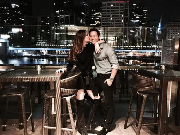 Tối 13/11, Kim Lý được Hà Hồ tặng hình ảnh này với lời chúc sinh nhật ngọt ngào.