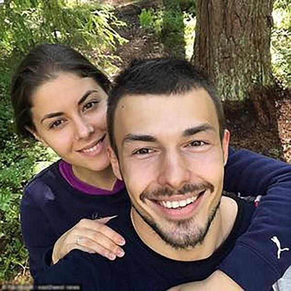 Yulia và chồng thuở còn mặn nồng.