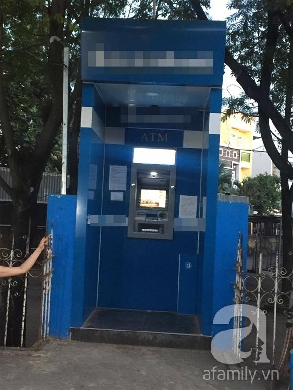 Cây ATM nơi xảy ra sự việc.(Ảnh: NVCC)
