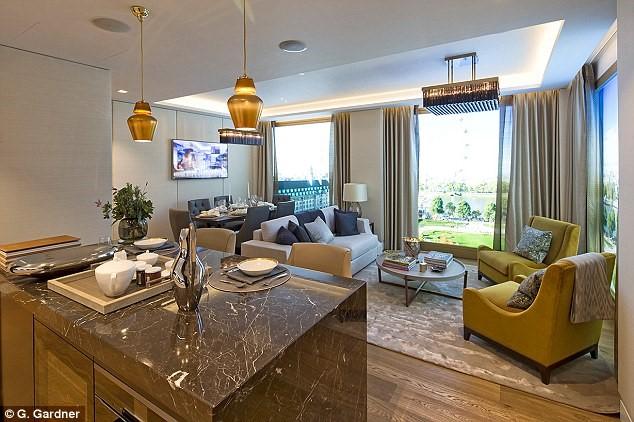 566 căn hộ sẽ được chia thành 8 tòa nhà với độ cao khác nhau để hòa quyện với quy hoạch khu vực xung quanh. Từ phòng khách chính, chủ nhà và khách có thể vừa uống trà vừa ngắm dòng sông biểu tượng của thủ đô nước Anh.
