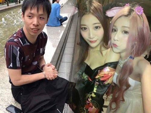Trình Vũ (trái) và Lương Ti Huệ (mặc váy đen) là những người thân thiết với nạn nhân. Hai người bị điều tra vì hành vi giết người, cướp tài sản. Ảnh: On.