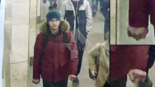 Kẻ được cho là nghi phạm trong vụ đánh bom. Ảnh: RenTV.