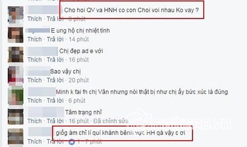 Quế Vân bị cho là đá xéo việc Lý Quí Khánh bên Hồ Hà.