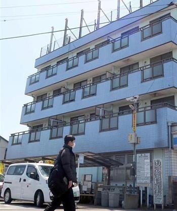 Khu chung cư 4 tầng mà Shibuya sinh sống và cho thuê tại thành phố Matsudo, tỉnh Chiba. Ảnh: Iza