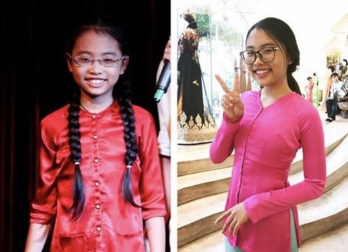 Cũng là diện áo bà ba nhưng Phương Mỹ Chi bây giờ đã không còn là cô bé 10 tuổi rồi nhé!