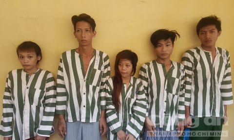 Các đối tượng đồng phạm với Như bị cơ quan công an bắt giữ - Ảnh: Thiên Long.