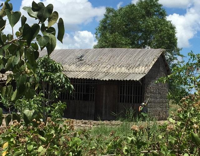 Căn nhà nơi ông Lợi bắn chết vợ.