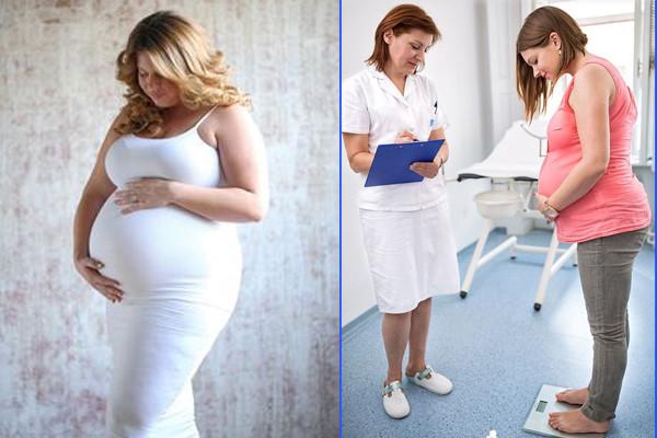 Phụ nữ béo phì mang thai cần kiểm soát cân nặng. Ảnh: Pinterest.