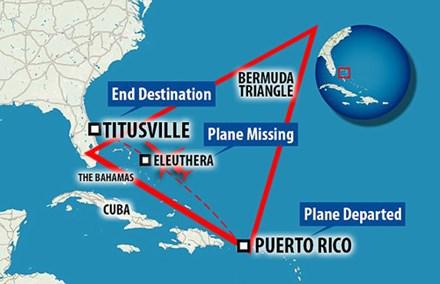 Máy bay tư nhân do Ulrich điều khiển dự kiến bay từ Puerto Rico tới Titusville, khi tới gần đảo Eleuthera thì mất liên lạc. Ảnh: News.